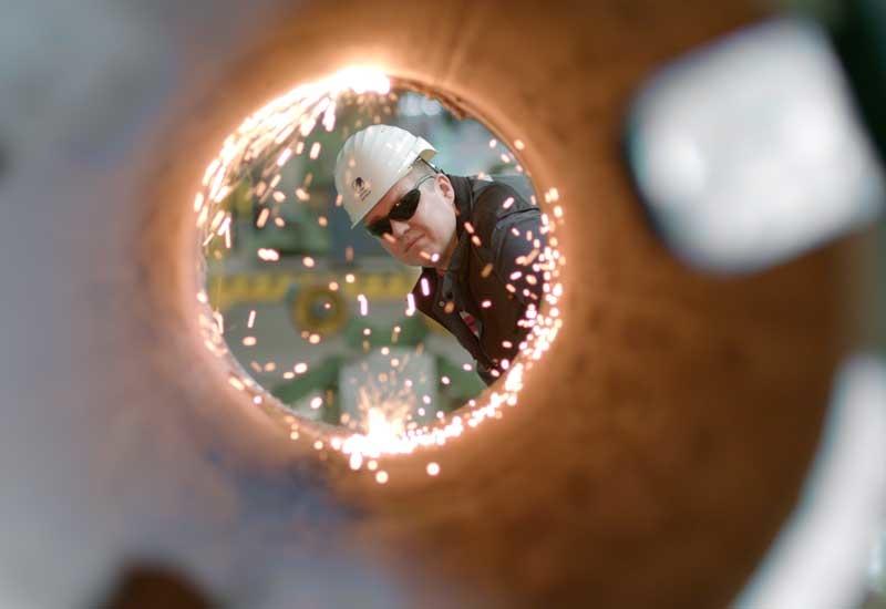 Eisenbau Krmer specialises in longitudinally welded large diameter steel pipes.