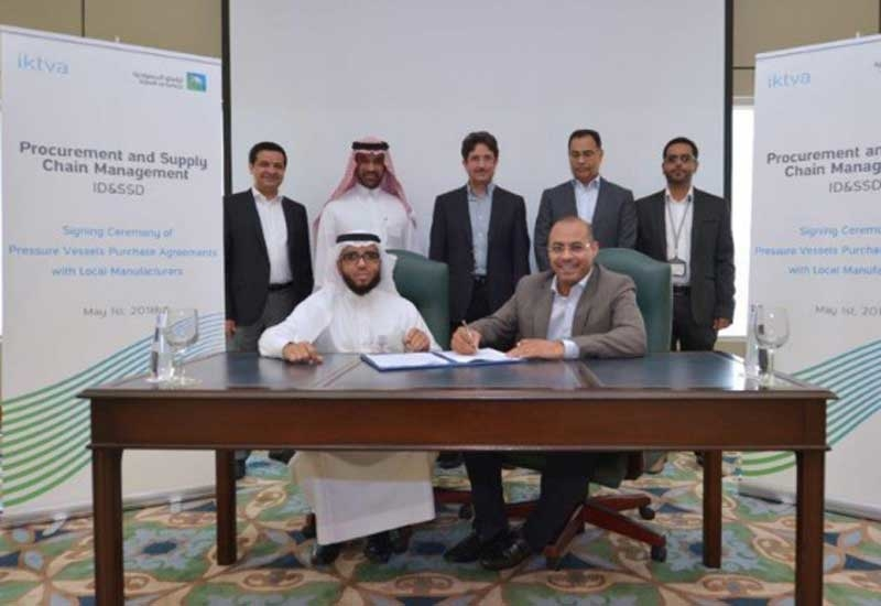 The purchase agreements will focus on the supply of pressure vessels by local manufacturers.