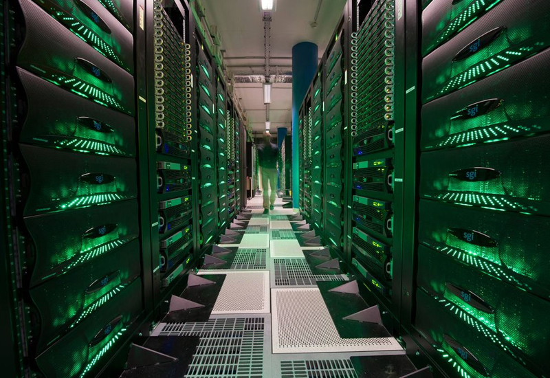 A supercomputer, high performance computing (HPC), at a Total research facility.
