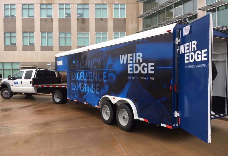 A Weir Edge trailer hits the road.