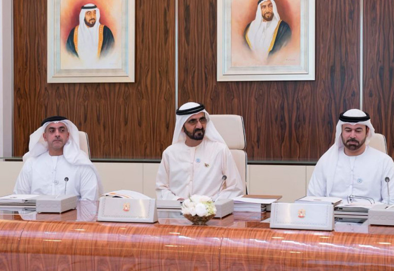 Sheikh Mohammed hosted the meeting of the UAE cabinet.