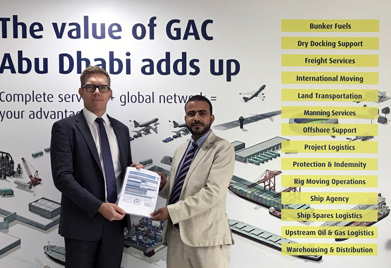 GAC Abu Dhabi's managing director, Gran Eriksson and Mahmoud Hussein, the company's key account manager dedicated to ADNOC, celebrate the ICV certification.