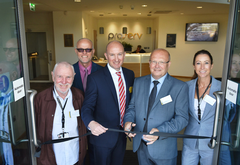 The opening of the new facility in Great Yarmouth.