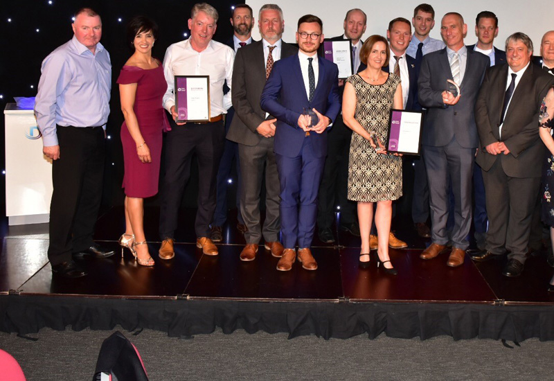 The winners celebrate their prizes at the 2018 Decom North Sea Awards event.