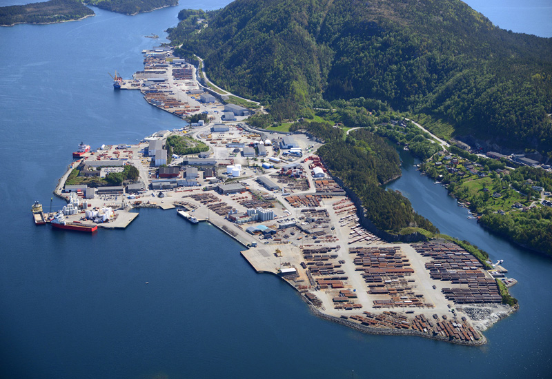 The port of Floro in Norway where some of the work will take place.