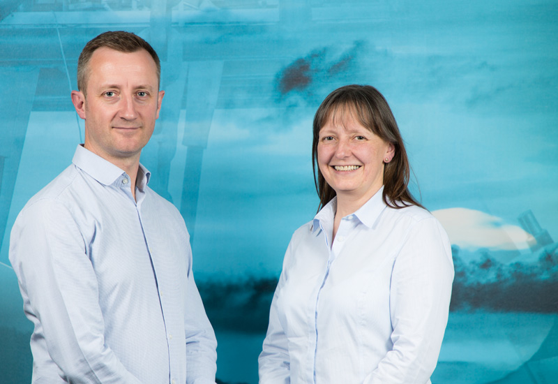 New appointments Murray Scott (left) and Steph Kiltie.