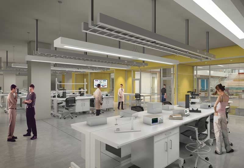 With student-centred design spaces similar to this artist rendering, Texas A&Ms College of Engineering will deliver education to students through hands-on learning labs such as the Emerson Advanced Automation Lab.