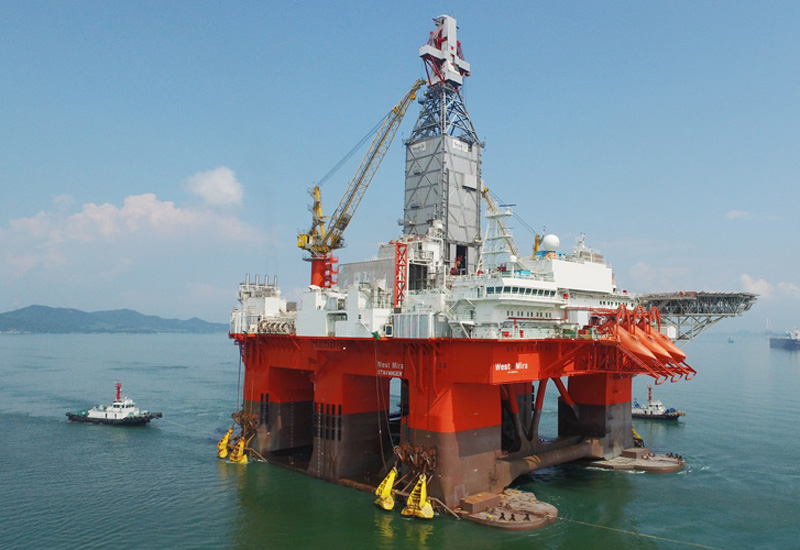 The West Mira rig has been designed to operate in all weather conditions. Image courtesy of Seadrill.