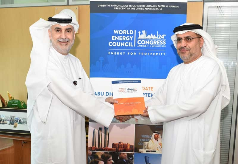 Nizar Al-Adsani (left), CEO, Kuwait Petroleum Corporation, with Dr Matar Al Neyadi, chairman of the UAE Organising Committee for the 24th World Energy Congress.