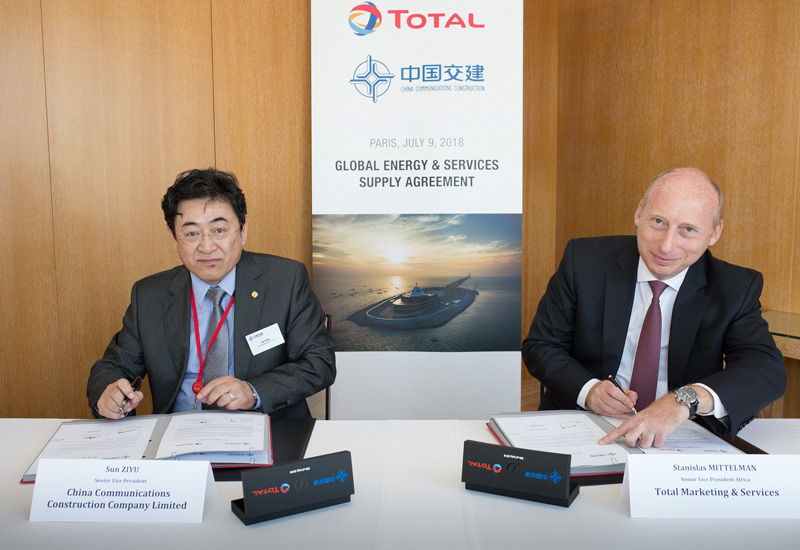 Total and CCCC sign the contract securing their tie-up.
