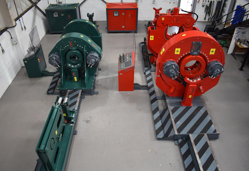 Fully-rotational torque machines at EnerQuips facility.