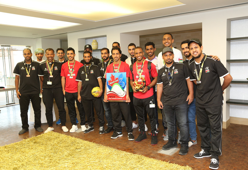 PDO's football team celebrates its impressive performance.