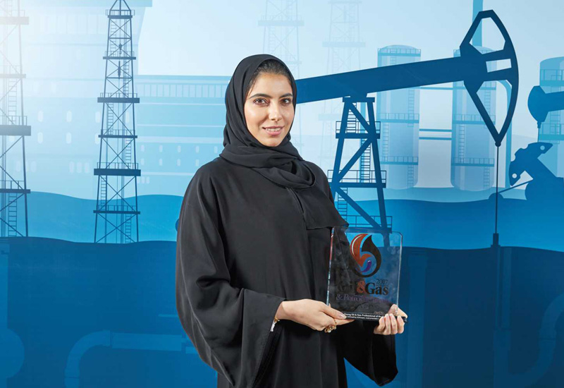 Dr Esra Al Hosani, an engineer with the Abu Dhabi National Oil Companys onshore division won 2017's Young Oil & Gas Professional of the Year.