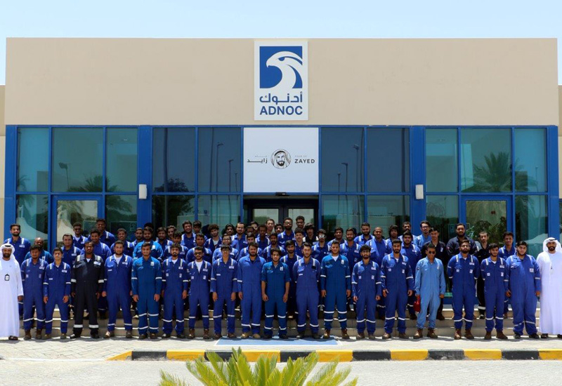 Students from the ADNOC Technical Academy.