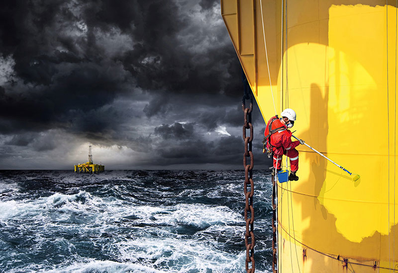 Easy access is not necessarily an option when undertaking maintenance offshore.