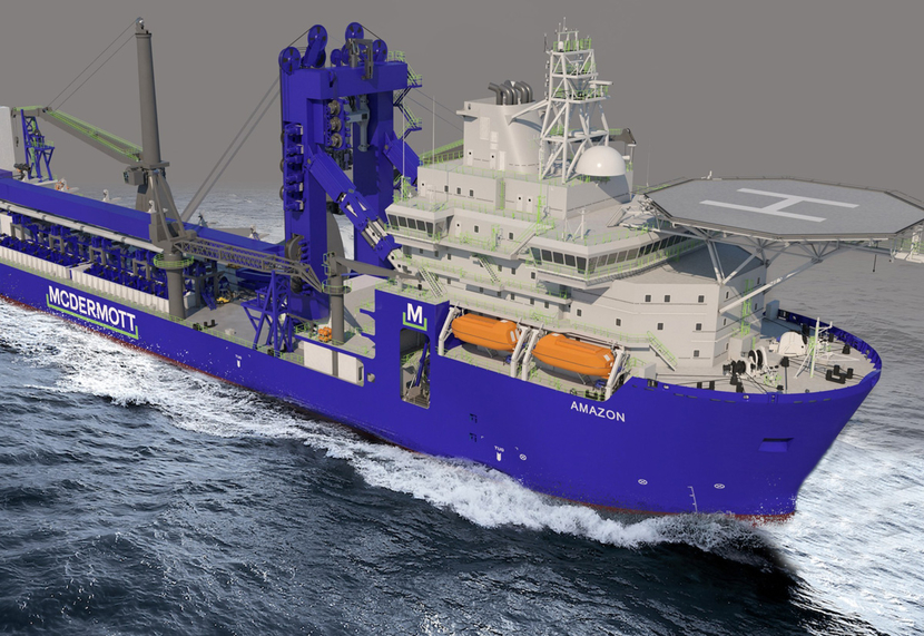 The Amazon will be converted to an ultra-deepwater J-Lay vessel.
