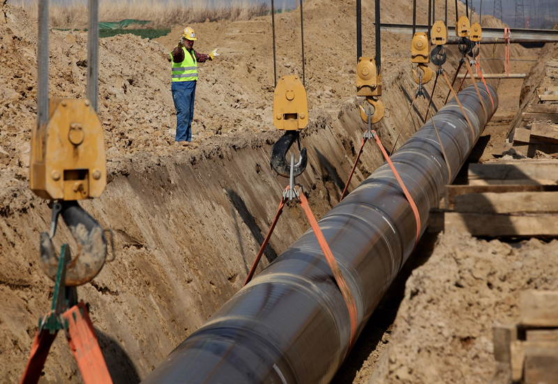 A pipeline under construction - no timeframes have been released regarding the Ethiopian project.