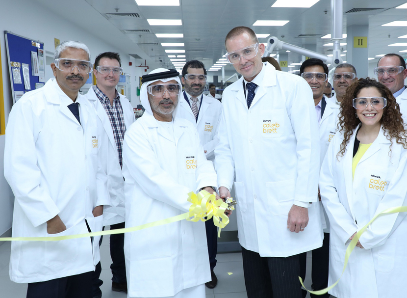 Intertek staff at their new laboratory in Sharjah, UAE.