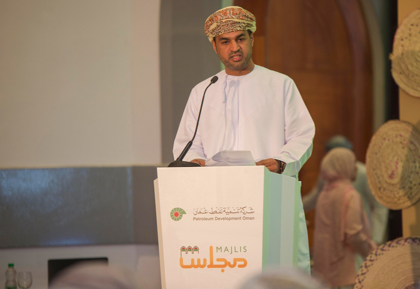 A speaker at the recent PDO Majlis held in Salalah.