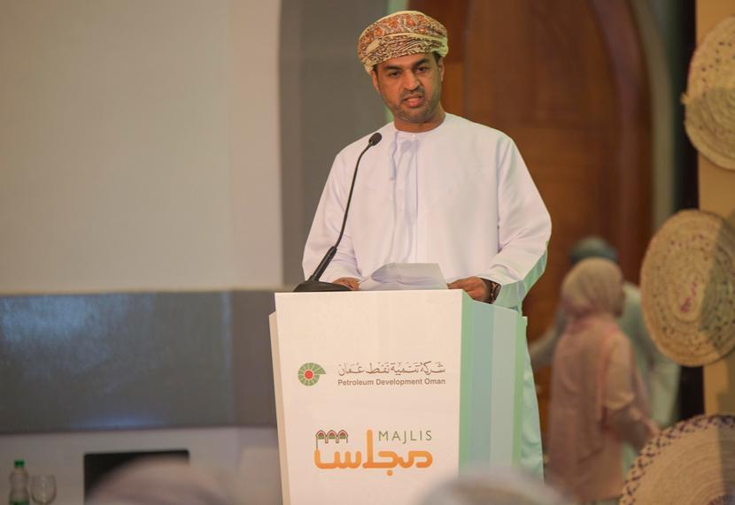A speaker at the recent PDO Majlis held in Salalah.
