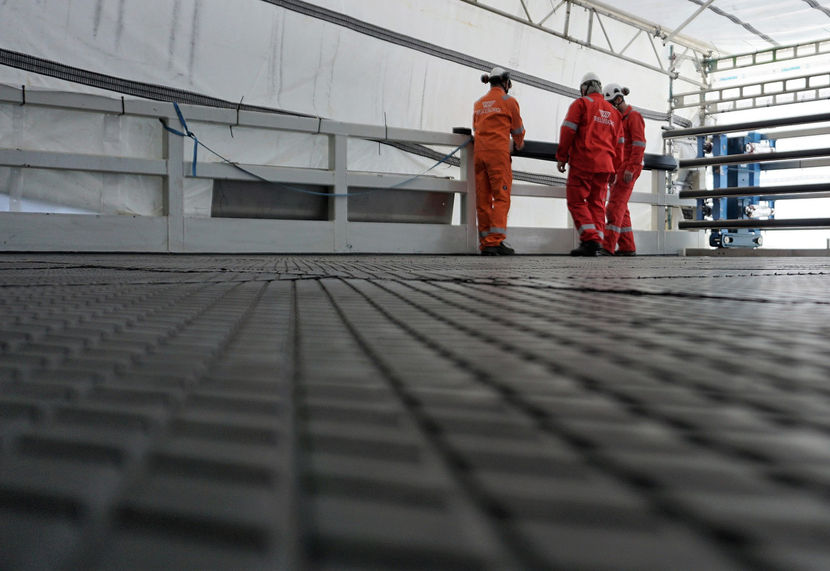 Vikodeck tiles can be applied to flooring, walls, roofing or any surface needing protection.