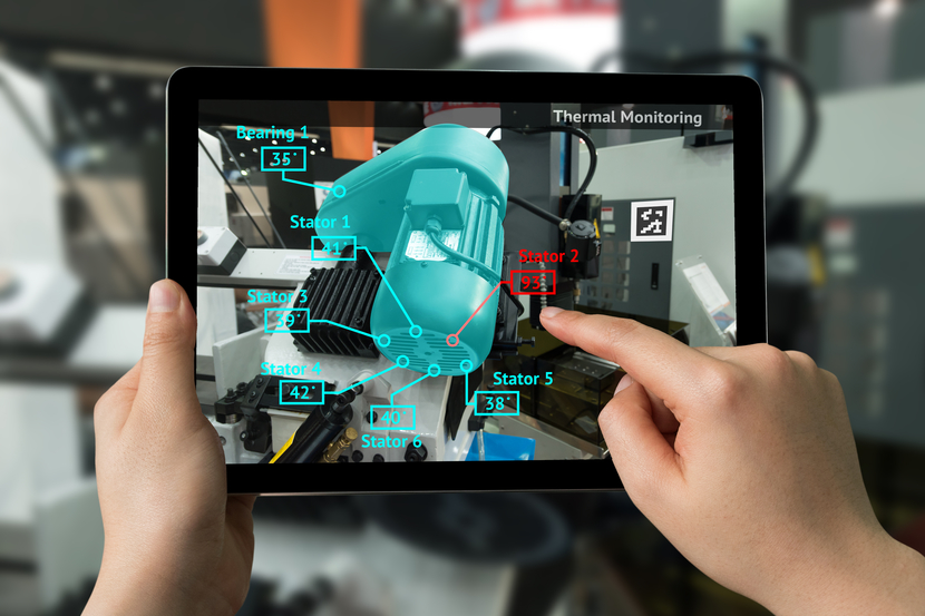 AVEVA's AMe solution for maintenance mixes virtual reality, augmented reality and the Industrial Internet of Things for maintenance. Photo for demonstrative purposes only.