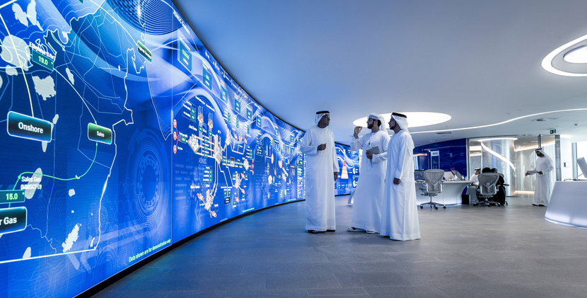 ADNOC Group's Panorama Command Centre at its Abu Dhabi headquarters