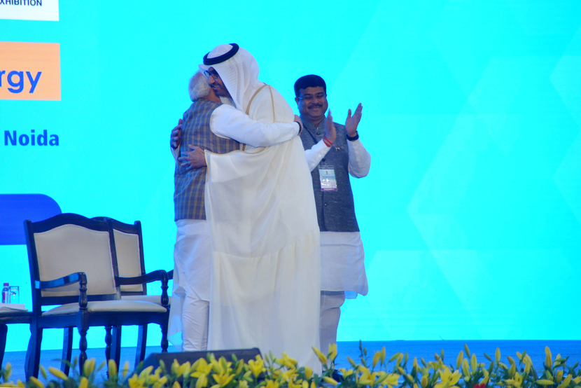 ADNOC Group CEO Dr. Sultan Ahmed Al Jaber received the award from Indian PM Narendra Modi