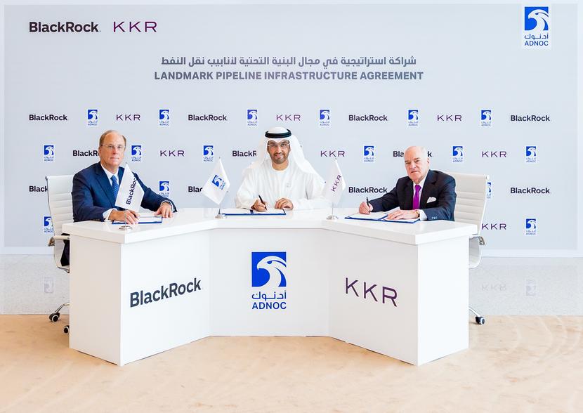 Midstream, ADNOC, Kkr, Blackrock, Pipeline