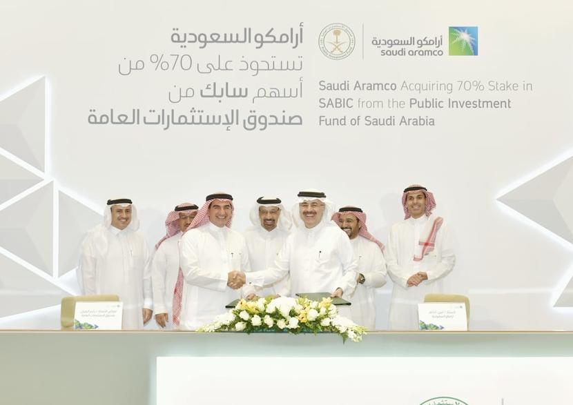 SABIC, Saudi Aramco, PIF, Diversification, Downstream