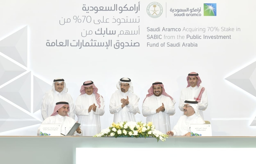 Saudi Aramco has agreed to buy PIF's 70% stake in Sabic for $69.1bn
