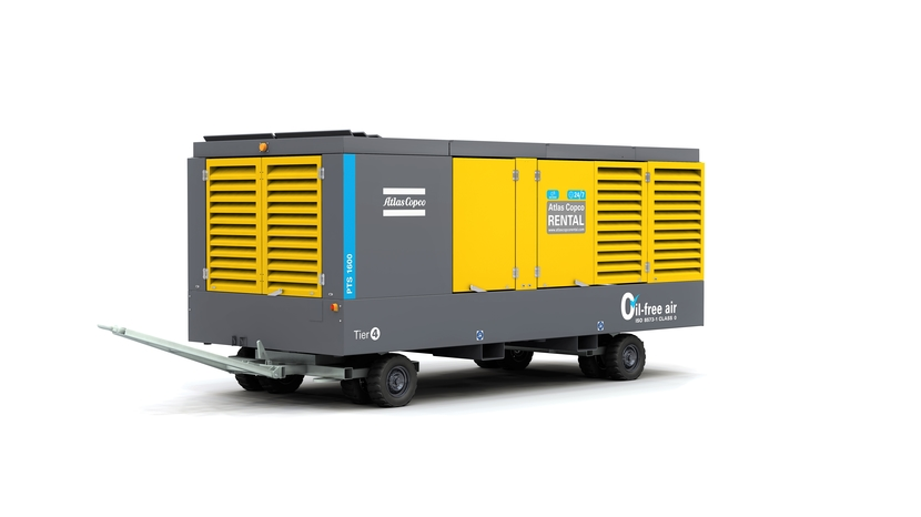 PTS 1600 mobile oilfree air compressor