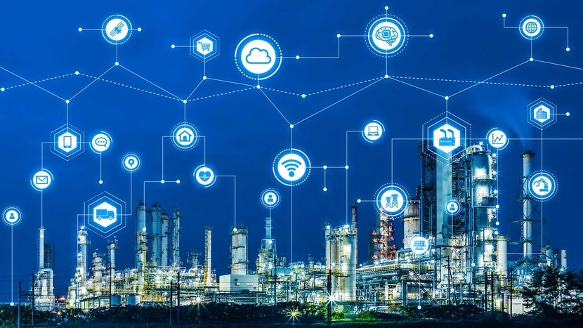 Industry40 and IoTInternet of Things Factory automation system AIArtificial Intelligence