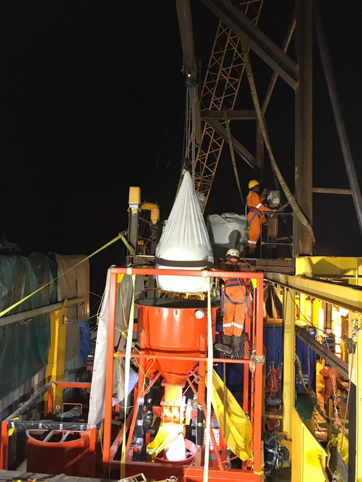 ULO equipment, products and manpower onsite at Perenco's Lucina gas line in Gabon