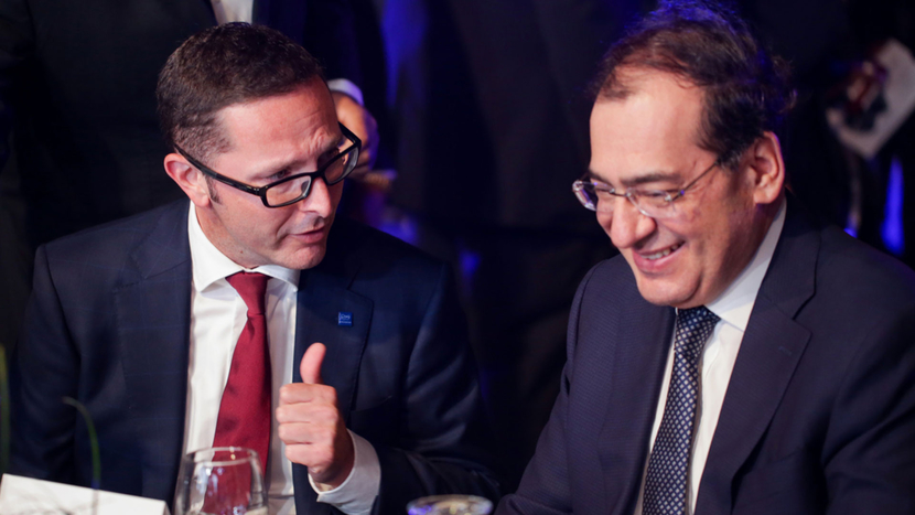 Mario Mehren and the Minister of Petroleum and Mineral Resources Tarek El Molla