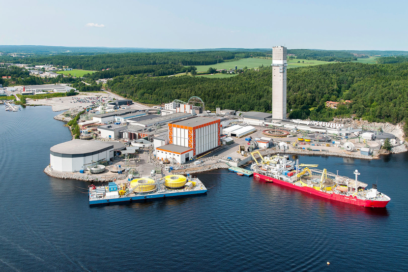 The Halden plant produces umbulicals and high voltage subsea cables for the world market