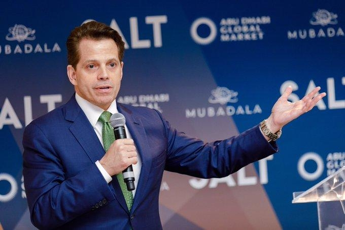 Anthony Scaramucci, former White House communications officer, at SALT in Abu Dhabi